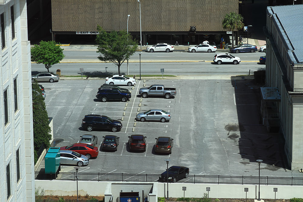 View of current Supreme Court Parking lot